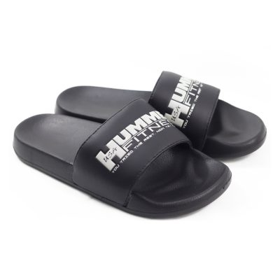 SLIDE BLACK SLIPPERS
